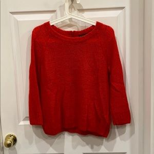 H&M red mohair blend sweater